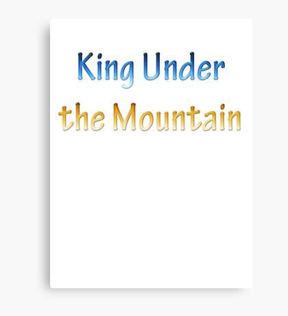 King Under the Mountain - Chrome Canvas Print