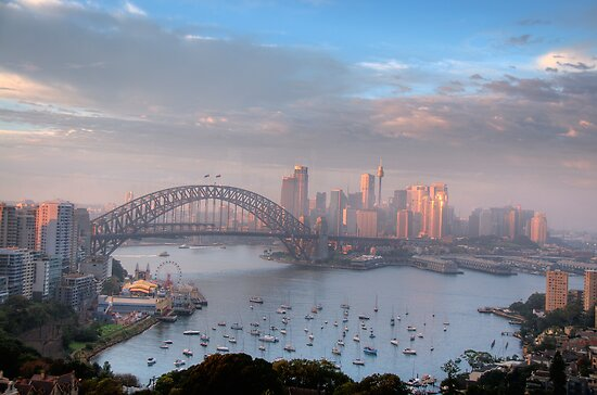 Watercolours - Moods Of A City #37 - The HDR Series , Sydney Australia by Philip Johnson