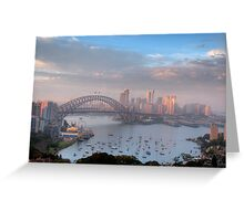 Watercolours - Moods Of A City #37 - The HDR Series , Sydney Australia Greeting Card