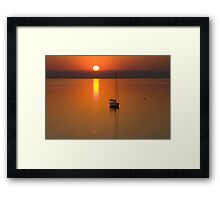 Lonely - Corio Bay Geelong Framed Print