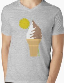 Dandelion's Chocolate and Vanilla Swirl Mens V-Neck T-Shirt