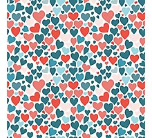 Funny hearts pattern Photographic Print