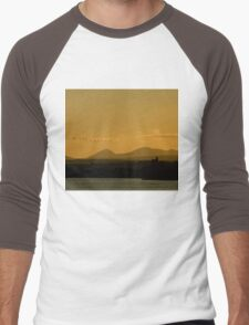 Geese over Derryveagh mountains at Twilight Men's Baseball ¾ T-Shirt