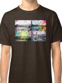 London Skyline View Painting - Ink & Watercolor/Watercolour Classic T-Shirt