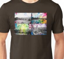 London Skyline View Painting - Ink & Watercolor/Watercolour Unisex T-Shirt