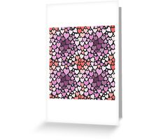 Abstract lilac hearts pattern Greeting Card