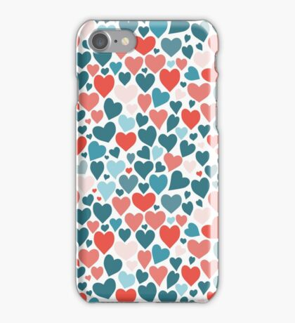 Funny hearts pattern iPhone Case/Skin