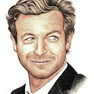 The Mentalist played by Simon Baker by Margaret Sanderson