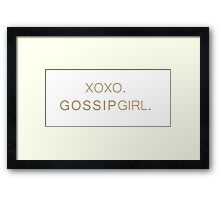 Gossip Girl  Framed Print