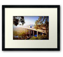 Early Morning fog - Geelong Ring Road Framed Print