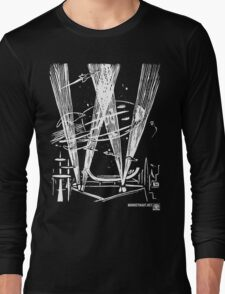 Night Traffic, Whitehall Hoverport (White Version) Long Sleeve T-Shirt