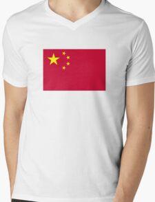 China flag Mens V-Neck T-Shirt
