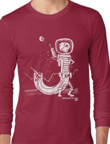 Dr. Johan Von Skinkely Investigates Sector 12 (White Version) Long Sleeve T-Shirt