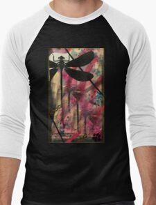 Black Dragonfly Men's Baseball ¾ T-Shirt