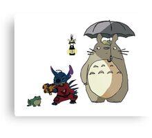 Totoro and Stitch mash-up! Metal Print