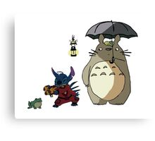Totoro and Stitch mash-up! Canvas Print