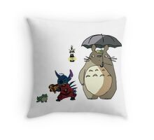Totoro and Stitch mash-up! Throw Pillow