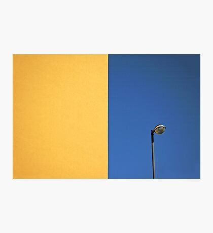 Half yellow Half blue Photographic Print