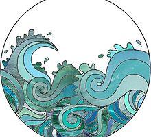 blue tones ocean by lilaferraro