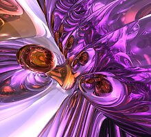 Purple Butterfly Abstract by Alexander Butler