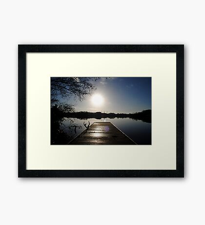 Pier at Enagh Lough, Derry, N Ireland Framed Print