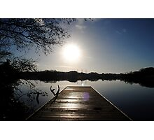 Pier at Enagh Lough, Derry, N Ireland Photographic Print