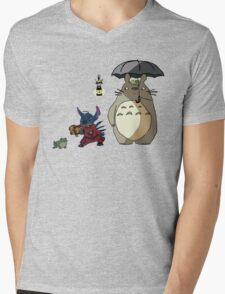 Totoro and Stitch mash-up! Mens V-Neck T-Shirt