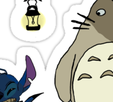 Totoro and Stitch mash-up! Sticker