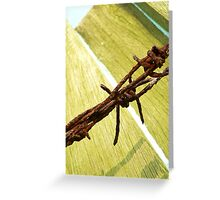 Rusted barbs Greeting Card