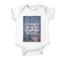 The City - WHITE One Piece - Short Sleeve
