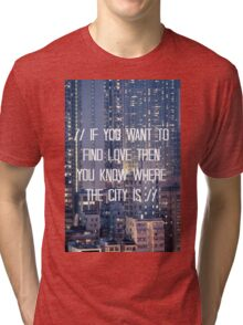 The City - WHITE Tri-blend T-Shirt