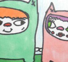 Monster cat love! Sticker