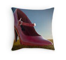 Big Red Shoe Throw Pillow