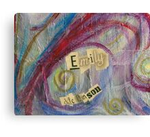 Emily's Signature Canvas Print