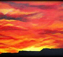 """""""Flaming Skies"""" by Ruth Kauffman"""