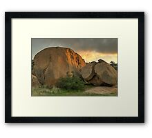 Korong Rocks Framed Print