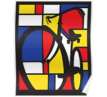 Mondrian Bicycle Poster