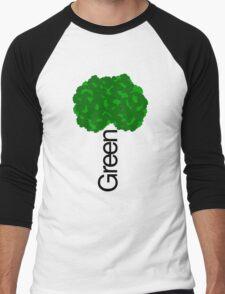 GREEN iii Men's Baseball ¾ T-Shirt