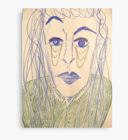 Androgynous person with raised eyebrow Canvas Print