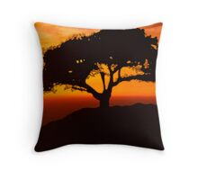 African Savanna Throw Pillow
