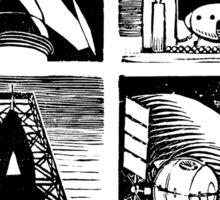 Read! Science Fiction Alphabet Letter design Sticker