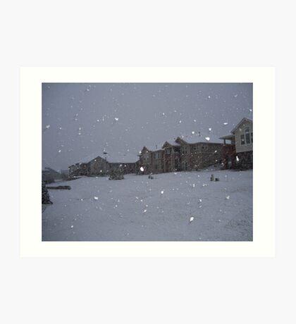 """"""" Snowstorm """" Art Print"""
