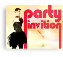 Party Invitation Metal Print