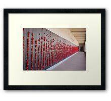 Australian War Memorial Remembrance Wall Framed Print