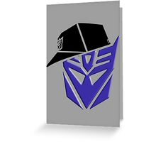 Decepticon G1 OG Transformer Greeting Card