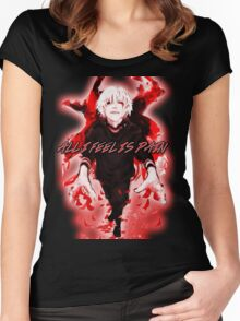 All I Feel Is Pain (Tokyo Ghoul) Women's Fitted Scoop T-Shirt