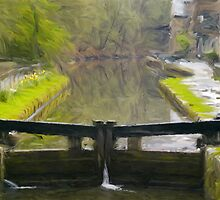 Locks at Hebden Bridge by Glen Allen