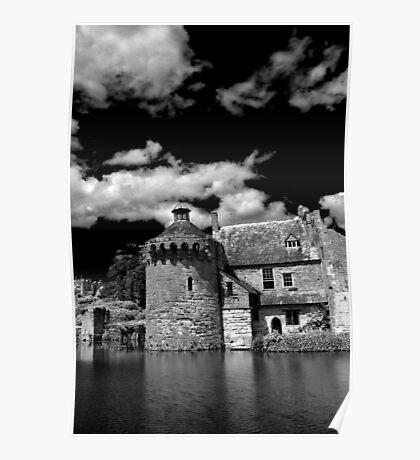 Scotney Castle Mono Poster