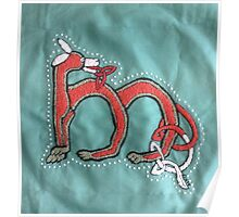 Celtic Fox Letter M Embroidery Poster