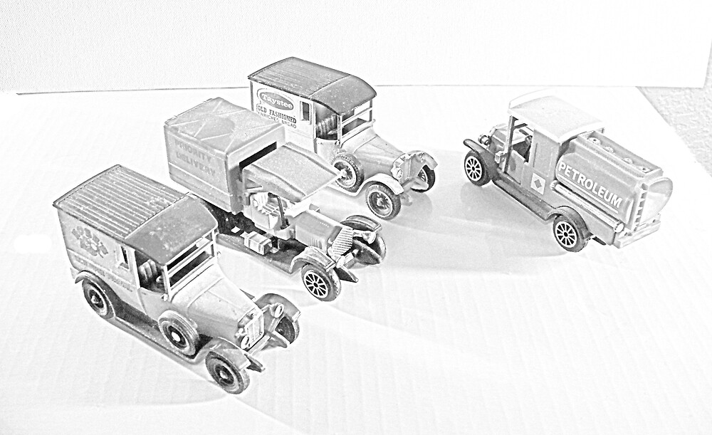 4 Old Cars by Rattlingmurdock